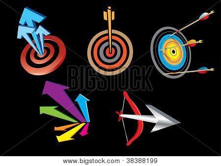 Darts with an arrow