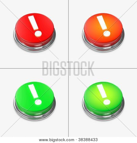 Red And Green Alert Buttons