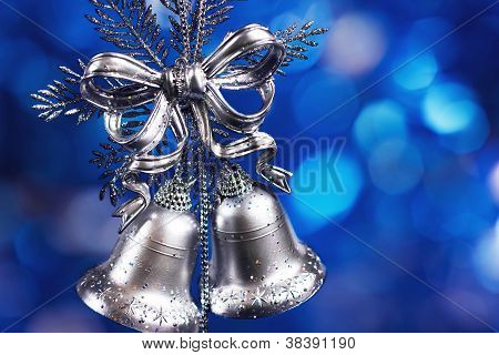 Christmas Decoration With Silver Bells