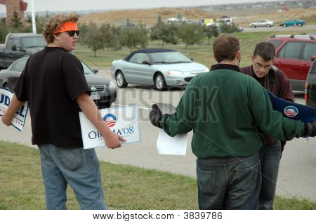 Obama Supporters At A Palin Rally