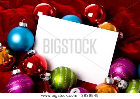 Christmas Bauble Or Ball Background