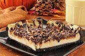 picture of cheesecake  - Rich delicious turtle cheesecake with pumpkin spice egg nog - JPG