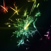 Sparkler multi coloured