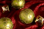 Bright Green Christmas Balls