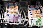 pic of smuggling  - a lot of money laundering with banknotes - JPG