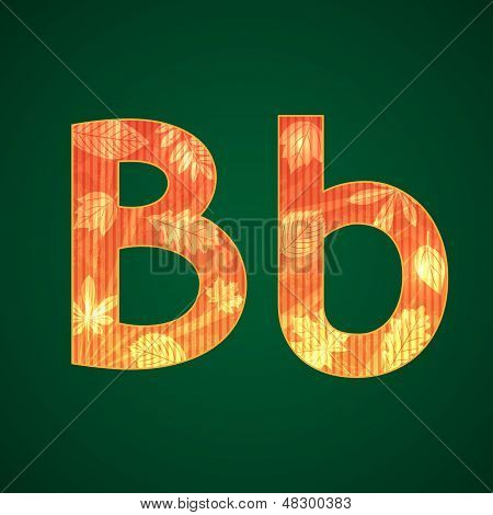 Letter B for fall theme