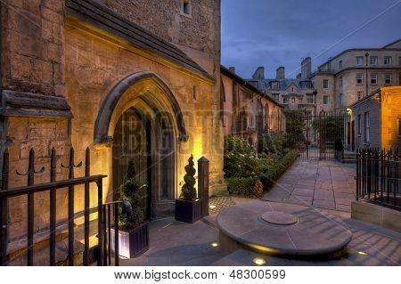 St Michael Cambridge at night