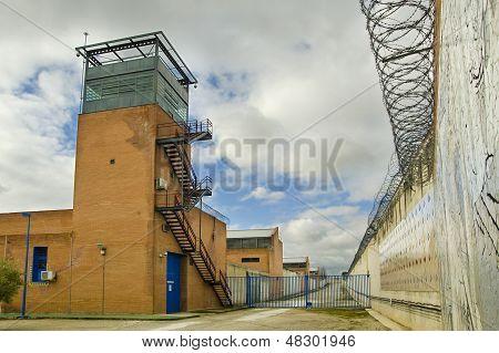 Prison In Cloudy Sky