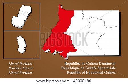 Equatorial Guinea - Litoral Highlighted