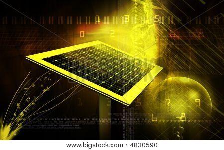 Solar Panel And Filament Bulb