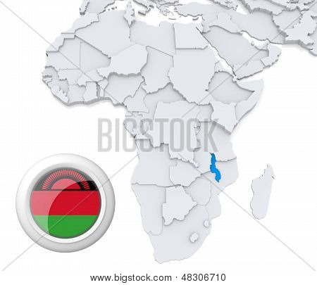 Malawi On Africa Map