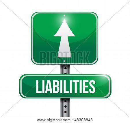 Liabilities Road Sign Illustration Design