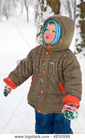 Boy In Winter Park