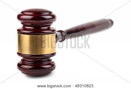 Martelo de madeira de castanho