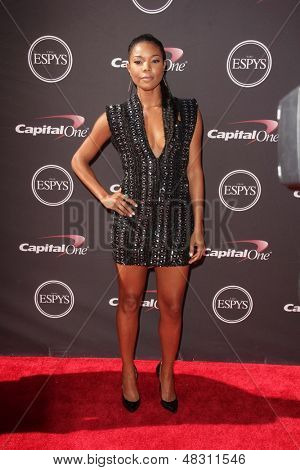 LOS ANGELES - JUL 17:  Gabrielle Union arrives at the 2013 ESPY Awards at the Nokia Theater on July 17, 2013 in Los Angeles, CA