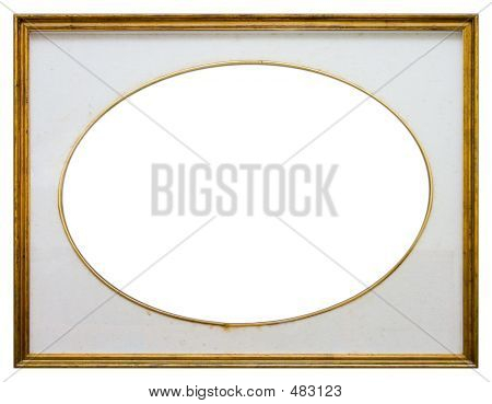 Oval Wooden Frame
