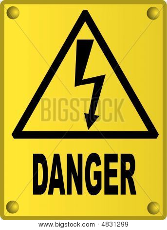High Voltage Sign