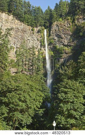 Multnomah Falls Panorama Oregon.