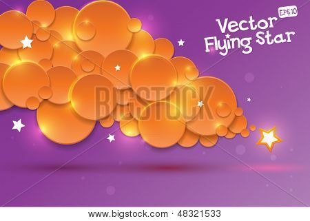 Stylized vector falling star