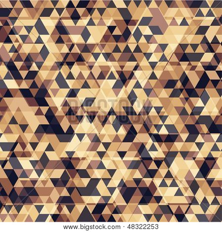 Retro triangle geometric pattern for mosaic banner design. Hipster retro style.