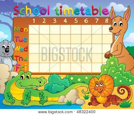 School timetable theme image 8 - eps10 vector illustration.