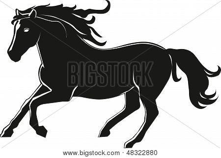 Laufende Pferd