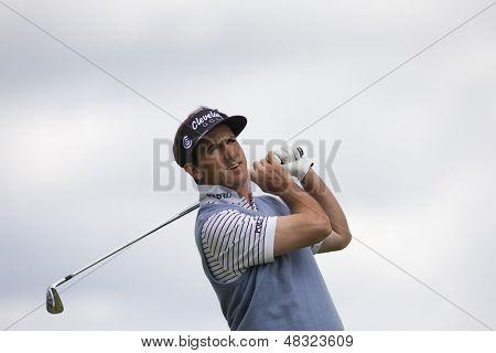 LOCH LOMOND, SCOTLAND - JUL 09 2009; Loch Lomond Scotland; Gonzalo Fernadez-Castano (ESP) competing in the first round of the PGA European Tour Barclays Scottish Open golf tournament.