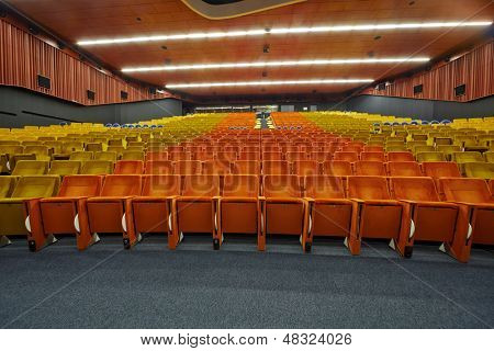 MOSCOW - AUG 20: Congress-hall of Moscow School of Management SKOLKOVO - russian analog of Silicon Valley, August 20, 2012, Moscow, Russia. Hall area is 2700 sq.m, and seating capacity is 660.