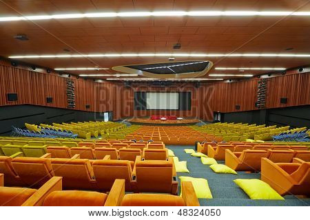 MOSCOW - AUG 20: Congress-hall of Moscow School of Management SKOLKOVO - innovative business school, August 20, 2012, Moscow, Russia. Seating capacity is 660 and hall area is 2700 sq.m.