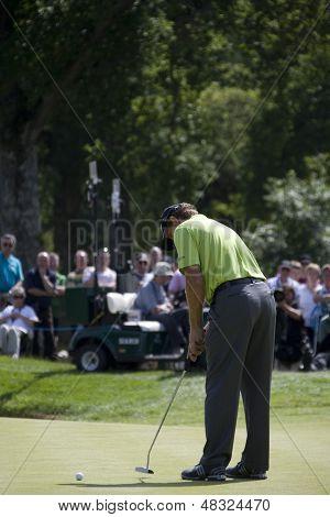 LOCH LOMOND, SCOTLAND - JUL 11 2009; Loch Lomond Scotland; Retief Goosen (RSA) competing in the third round of the PGA European Tour Barclays Scottish Open golf tournament.