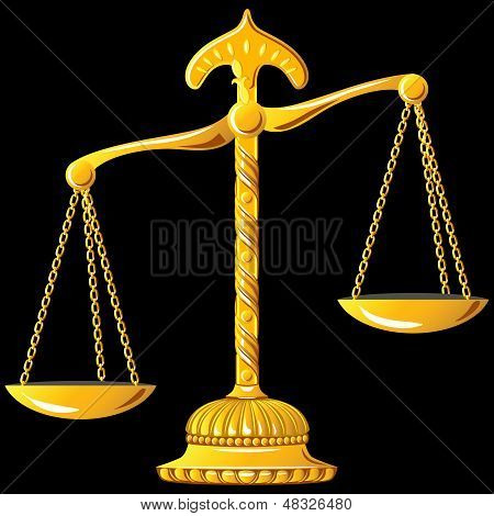 Vector Gold Scale Of Justice