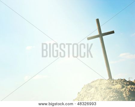 Cross With Space For Copy (text)