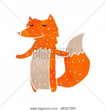 retro cartoon fox