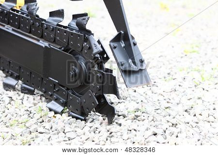 Trench Digger Machine For Trenching