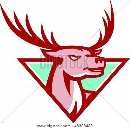 Deer Stag Buck Head Woodcut