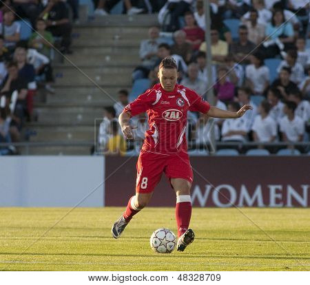 MADRID, SPAIN. 16/05/2010. Potsdam's DF Josephine Henning in action during the Women's Champions League final  played in the Coliseum Alfonso Perez, Getafe, Madrid.