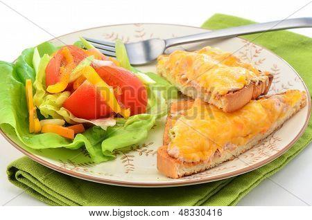 Tuna Melt With Salad