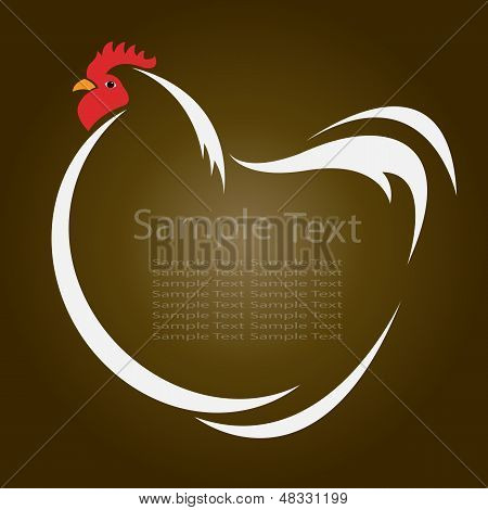 Vector Image Of An Hen