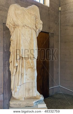 Statue In A Museum Of Ancient Corinth