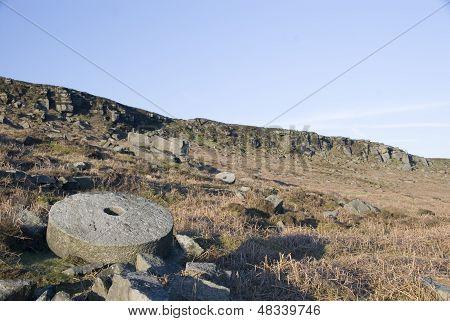 Millstones at Stanage Edge, Peak District, UK