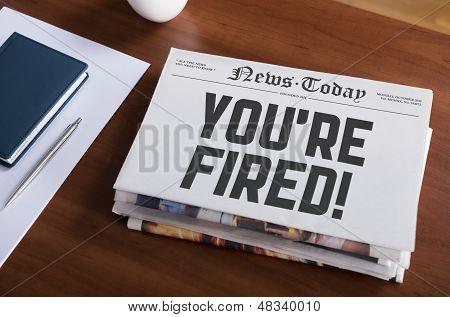 Aviso prévio de despedimento