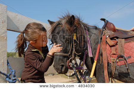 Little Girl And Shetmand