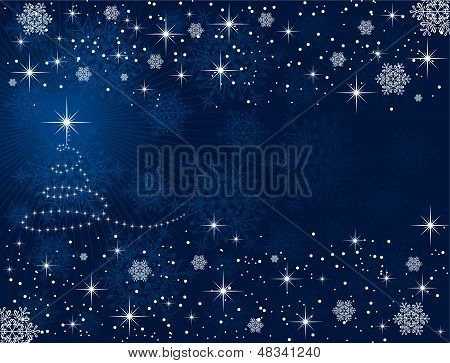 Christmas tree and stars