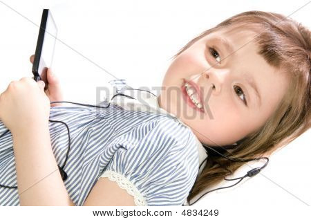 Little Girl With Mp3 Player