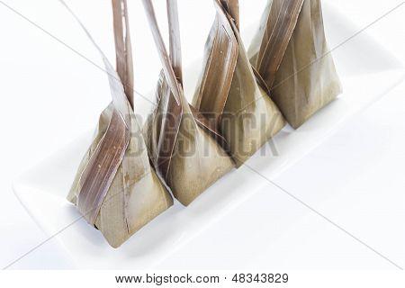 Harina al vapor con coco Relleno de placa blanca