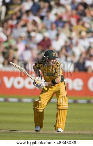 LONDON - 12 SEPT 2009; London England: Australia team player Michael Clarke playing in the Nat West, 4th one day international cricket match between England and Australia held at Lords Cricket ground.