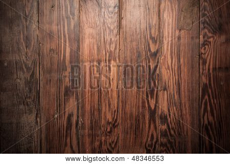Rustic Wooden Panel Background Top View