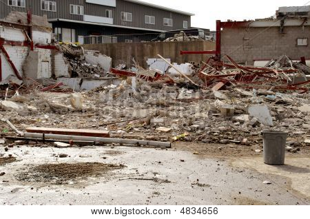 Demolition Building And Construction Work Site