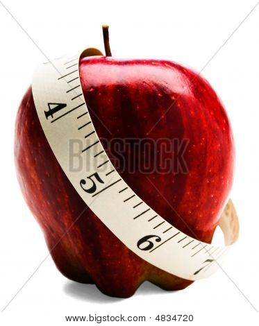 Measuring Tape Wrapped Around Apple