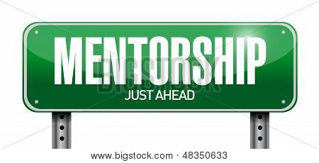 Mentoring Road Sign Illustration Design